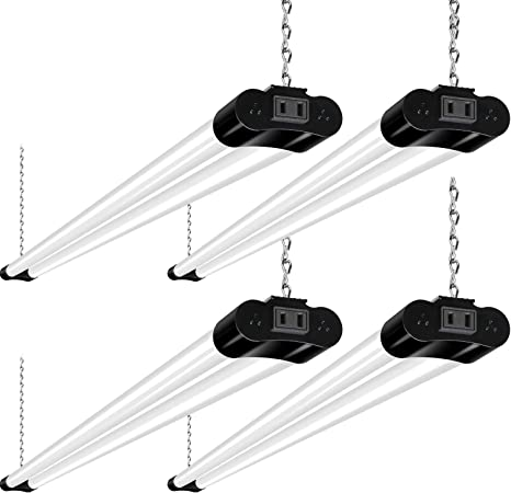 Hykolity Linkable Led Shop Light For Garage 4ft 36w Utility Light Fixture For Workshop Basement 5000k Daylight Led Workbench Light With Plug 250w