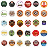 Coffee, Tea, Cappuccino and Hot Chocolate Variety Sampler Pack for Keurig K-Cup Brewers, 30 Count