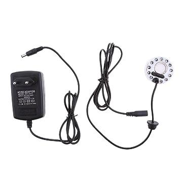 Luftbefeuchter mit EU Stecker f/ür Brunnen Teich Mist Maker Sharplace Ultraschall Nebel Hersteller Maschine
