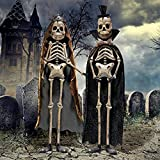 Day of the Dead King and Queen Metal Skeleton Statue – Skeleton Figure – Halloween Decorations For Sale