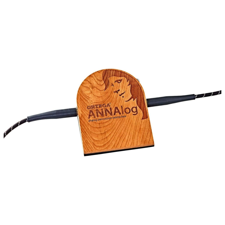 Ortega Guitars ANNAlog Analog Passive Cherry Wood Percussion Stomp Box with Buil by Ortega (Image #4)