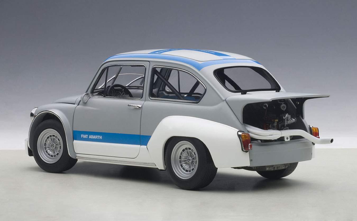 AUTOart 72642 - Fiat - Abarth 1000 TCR - Gris/Azul - Escala - 1/18: Amazon.es: Juguetes y juegos