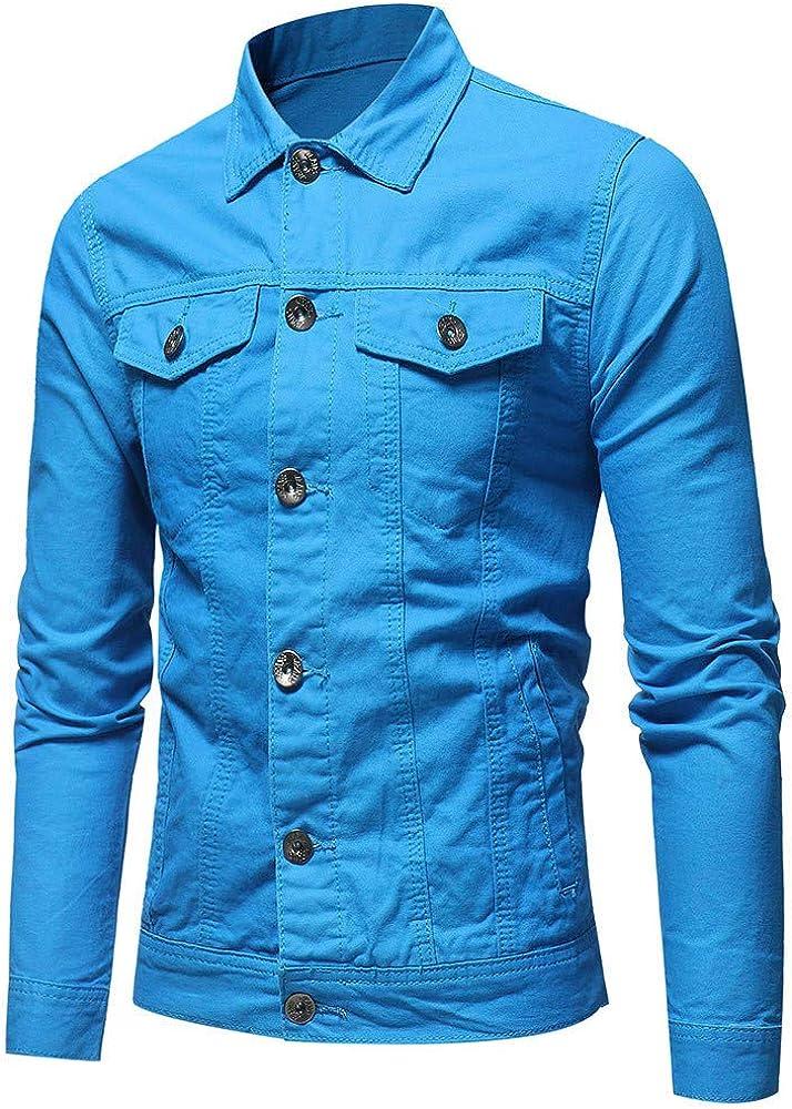 Hemlock Men Denim Jacket Coats Ziipper Cardigan Trundown Jean Coats Sweatshirt Pullover Tops Outwear