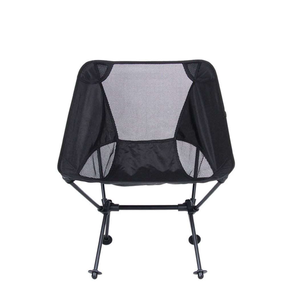 Multifunktionale Outdoor Camping Oxford Tuch Aluminium Klappstuhl, schwarz