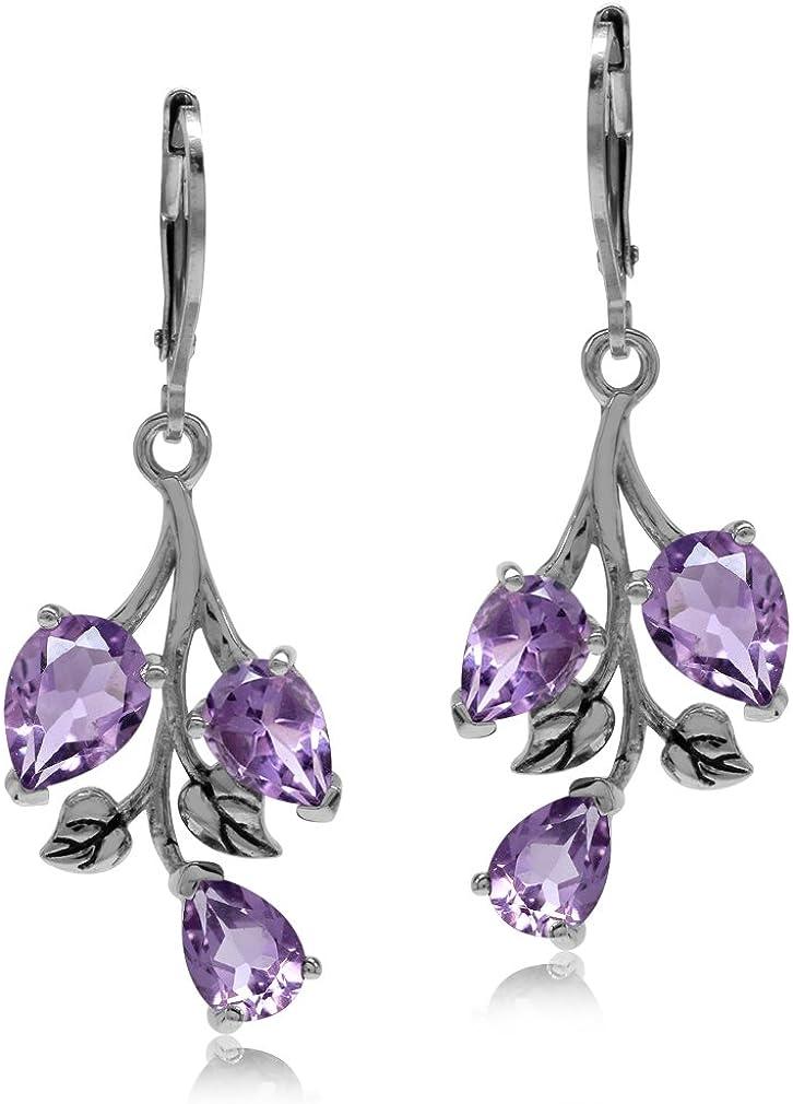Amethyst Earrings Silver,Celtic Knot Earrings,Crawler Earrings Silver,Boho Gemstone Earrings,Tribal Earrings Silver,Climbing Earrings Silver
