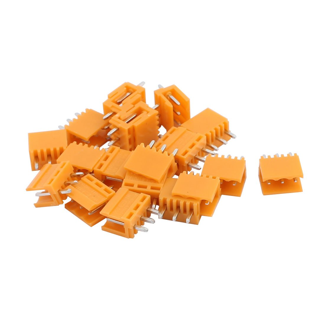 uxcell 20Pcs AC300V 3.96mm Pitch 3P Straight Needle Seat Plug-in PCB Terminal Block Connector a16122000ux0488