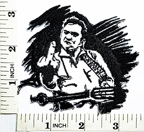 JOHNNY CASH Punk Rock Heavy Metal Music Band patch Jacket T-shirt Patch Sew Iron on Embroidered Sign Badge (Johnny Cash Patches)