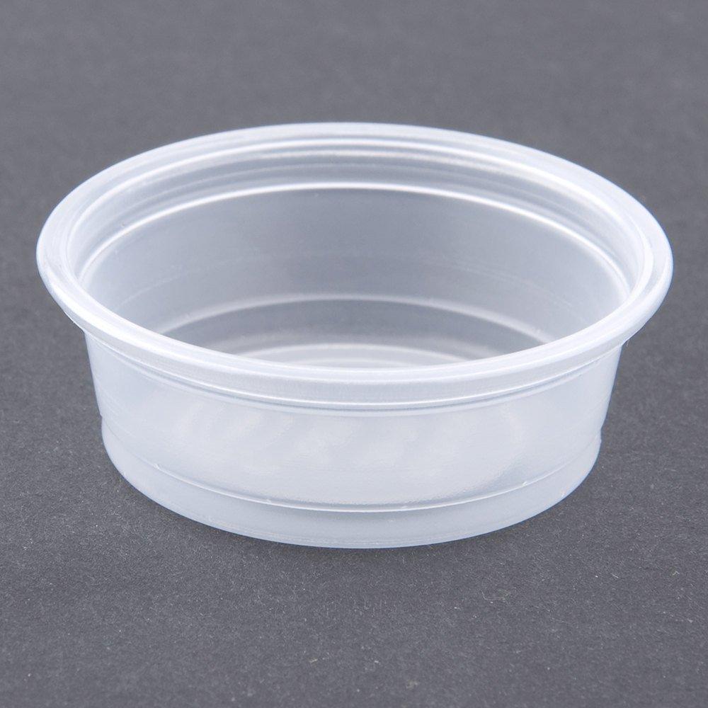 SOLO DCC050PC Plastic Souffle Portion Cups 1/2 oz. Translucent 2500/Carton