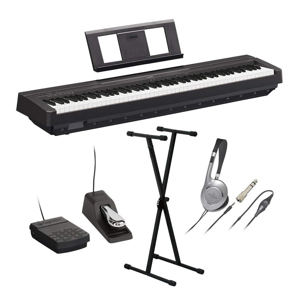 YAMAHA P-45B 電子ピアノ 88鍵盤 Xスタンドダンパーペダルヘッドホンセット   B07TQ6ZFPQ