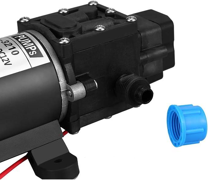 Zyyini Bomba de Presi/óN de Diafragma de Agua Min DC 12V para Lavadora de Autos y Equipo de Agua de Control Remoto Bomba de Agua de Alta Presi/óN de 8L