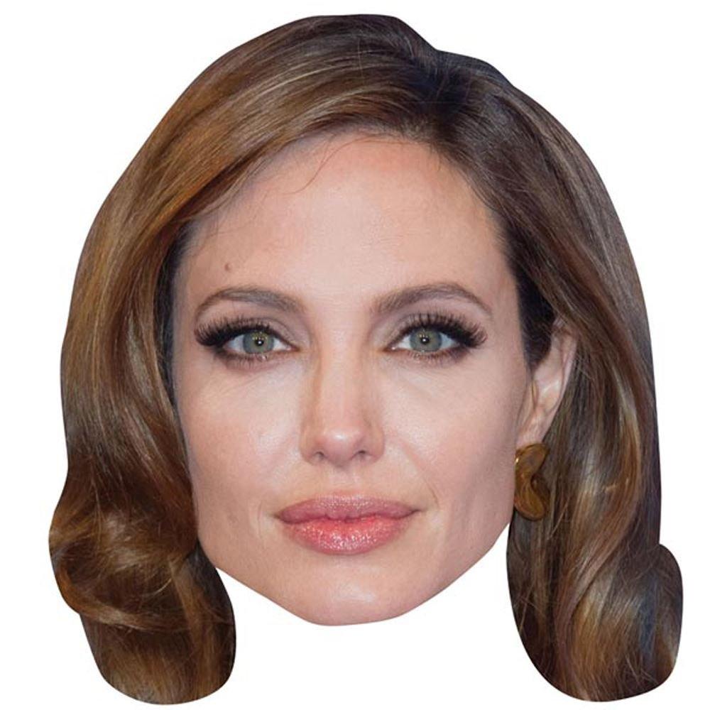 Amazon.com: Angelina Jolie Celebrity Mask, Card Face and Fancy Dress ...