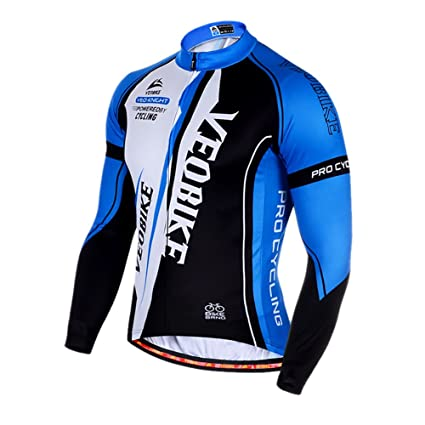 39154a757 Amazon.com   TOPTIE Men s Race Cut Long-Sleeve Biking Cycling Jersey ...