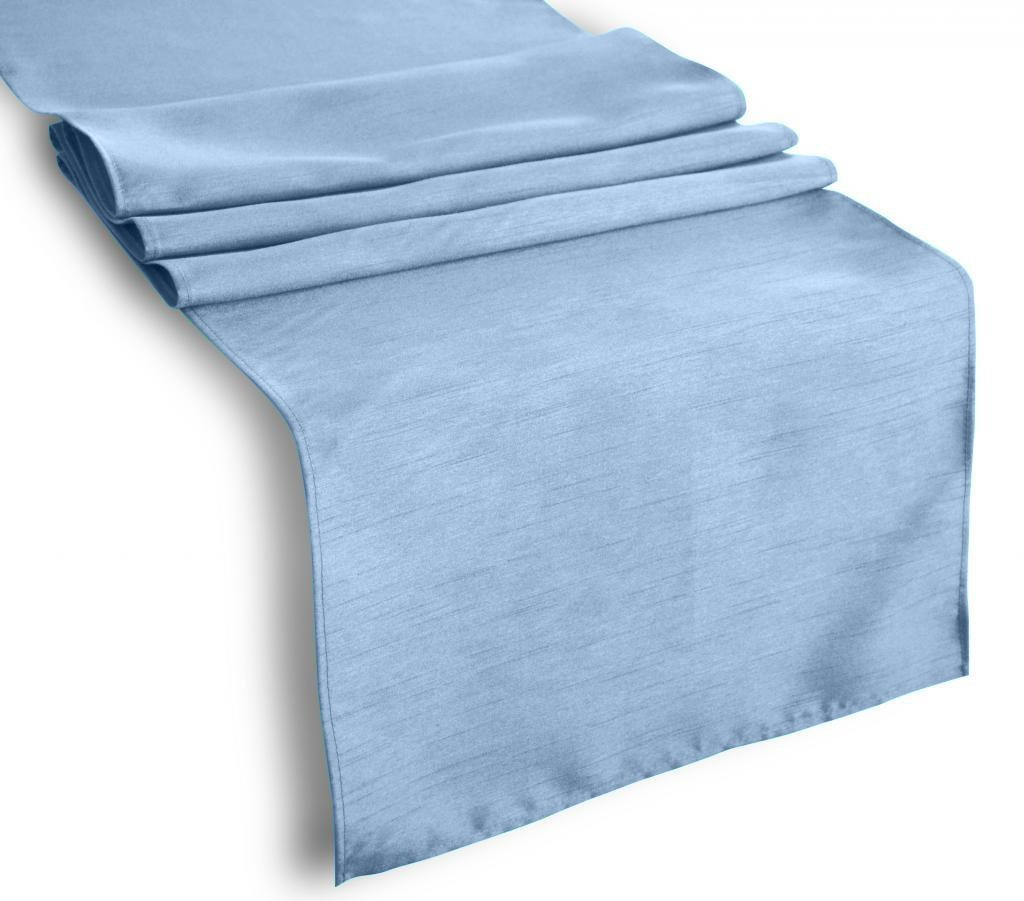 Table Runner Polyester 14 X 120 Inch By Broward Linens (Steel Blue) by BROWARD LINENS