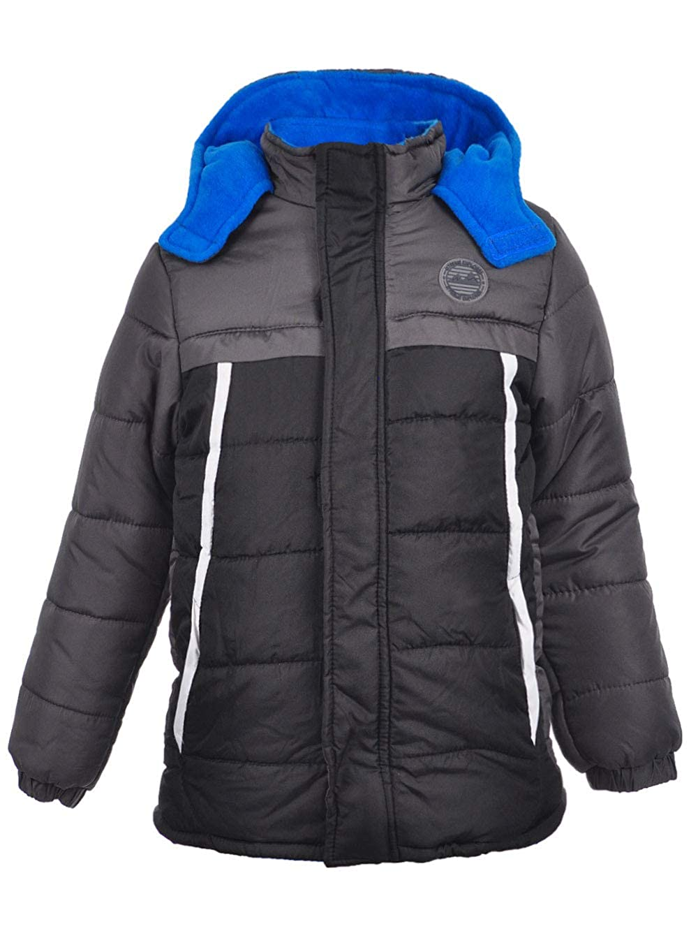 iXTREME Boys Colorblock Puffer Black 4 IX814477-BLK