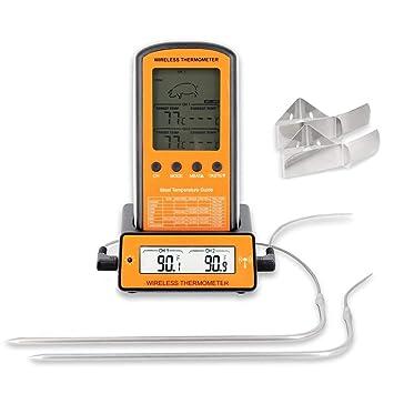 FLEISCHTHERMOMETER digital Kochthermometer Fleisch Edelstahl Grill Thermometer