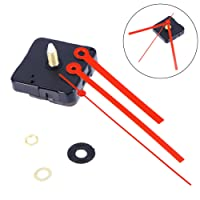ROSENICE Silent Clock Movement Silent Clock Movement Kits for DIY Clock Replacement (Red Straight Clock Hand)