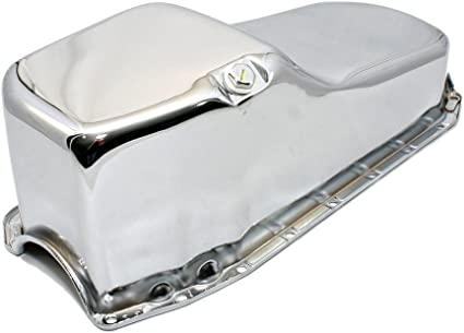 Chrome Oil Pan Fits Small Block Chevy 1985 UP One Piece Rear Main Engines