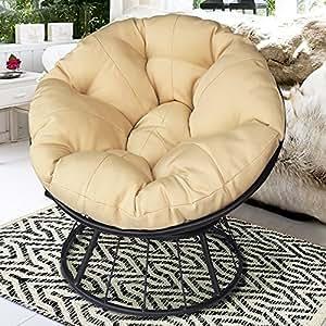 Al aire libre silla giratoria con cojines