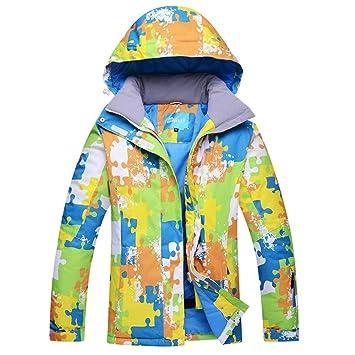 Zjsjacket Chaqueta de Esqui Chaqueta de esquí de Snowboard para Hombre Mantener el Calor Abrigos de