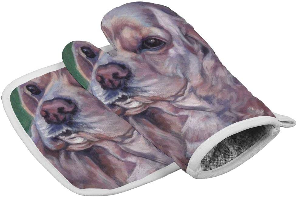 Coolstuffs American Cocker Spaniel Kitchen Oven Mitts and Pot Holders Insulated Durable Mitts