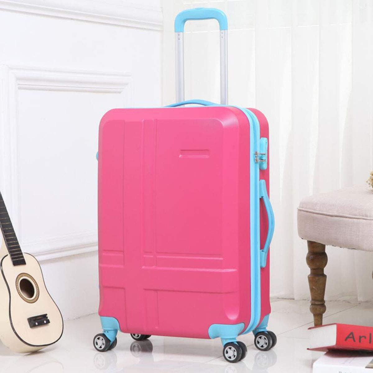 34 22 56 Color : Light Blue, Size : 14923 inch cm Aishanghuayi Suitcase for Expandable 8-Wheel fine-Tuning Consignment Suitcase,