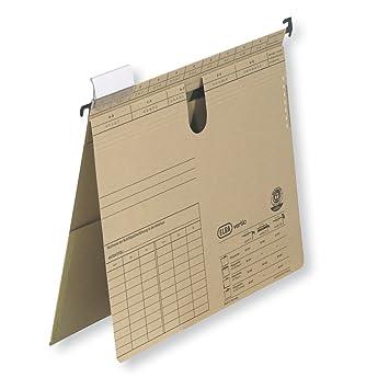 Elba Vertic VL 86441 - Archivador colgante (texto en alemán, colocable en vertical y horizontal, 50 unidades), color marrón: Amazon.es: Oficina y papelería
