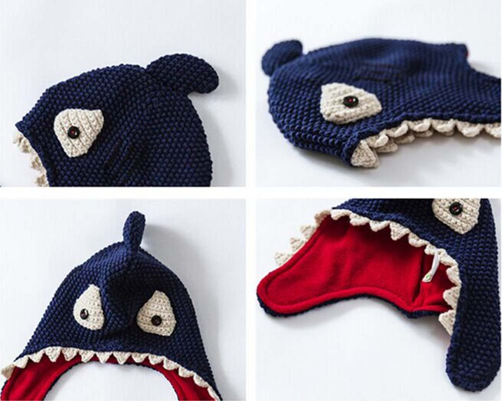 Sombrero Más caliente Hat Sombrero hecho punto Más Shark terciopelo ...