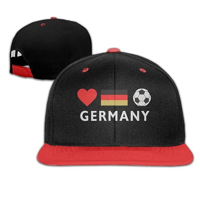 Germany Football German Soccer Men s Adjustable Snapback Hip Hop Dad Hat  Cap Flat Brim White Baseball Cap for Men Women  Amazon.ca  Clothing    Accessories a8f1666db69