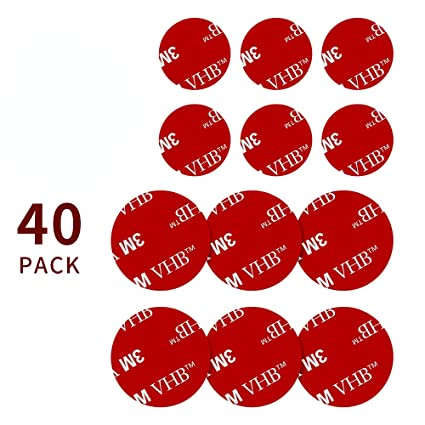 Newseego 40 Pack 3M Sticky Adhesive Replacement (20 Pcs 1 38