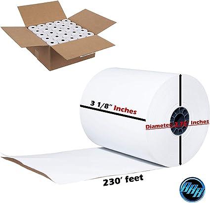 Cash Register Paper Rolls 3 x 150 50 Rolls per Carton Made in USA from BuyRegisterRolls