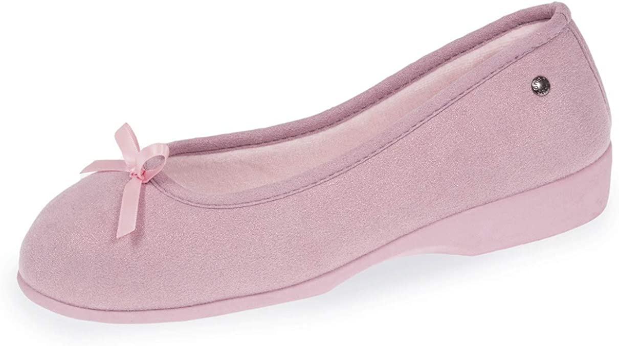 Isotoner Chaussons Ballerine Grand Nud Perroquet