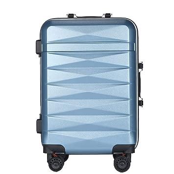 Maleta con Ruedas para Viaje The Luggage, Universal Wheel Business Boarding The Chassis, Maleta Ligera de Cubierta Dura by Gorkuor (Color : Azul, ...