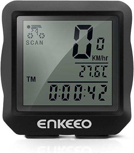 Enkeeo Velo - Ciclocomputador Cableado, Cuentakilómetros Bicicleta ...