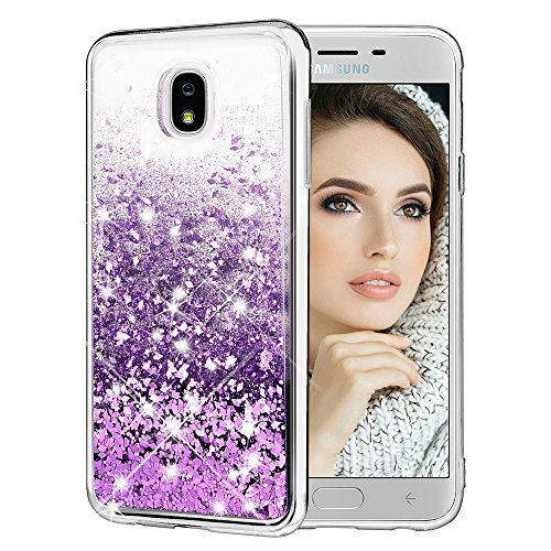 - Caka Galaxy J7 Refine 2018 Case, Galaxy J7 Refine 2018 Glitter Case [Liquid Series] Bling Glitter Flowing Floating Luxury Liquid Sparkle Soft TPU Case for Samsung Galaxy J7 Refine 2018 - (Purple)