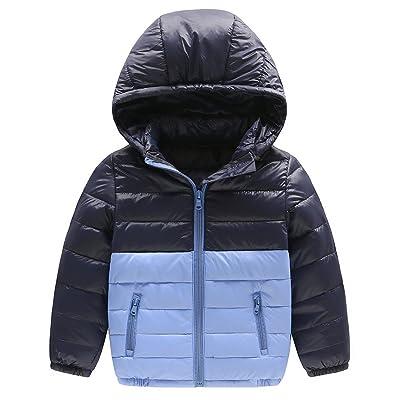 e4e87fa1384d5 Baby Boy Girl Winter Warm Down Jacket Kids Hooded Packable Lightweight Coat