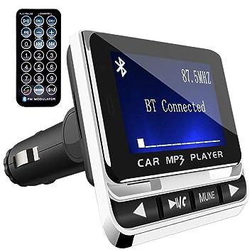 Transmisor FM Bluetooth para Coche, Top-Vigor Reproductor MP3 Mechero de Coche, Manos