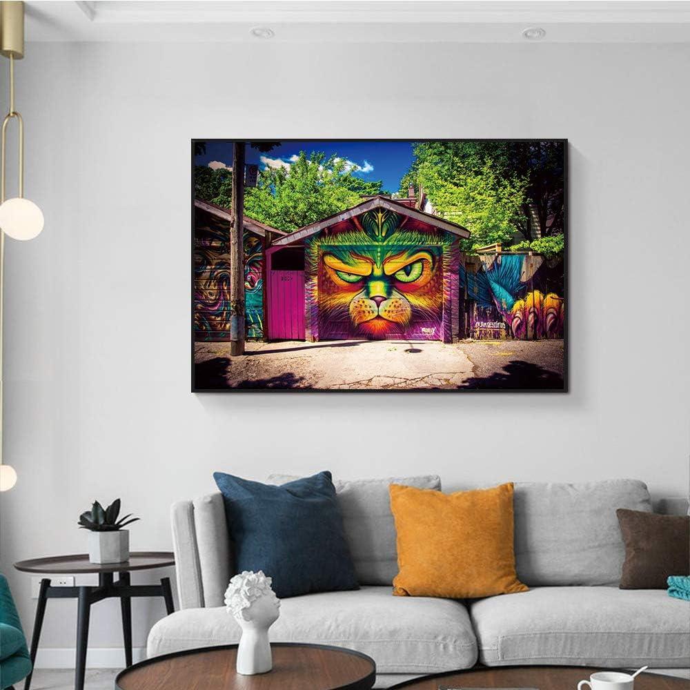 zgldx73 Tigre Abstracto Pintura Decorativa Moderna Lienzo Impresiones Arte Pintura al óleo Lienzo Arte de la Pared Pintura Dormitorio Pintura decorativa45x30cm sin Marco