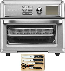 Cuisinart TOA-65 Digital AirFryer Toaster Oven with Intuitive Programming Options Bundle with Home Basics 5-Piece Knife Set with Cutting Board