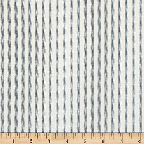 Magnolia Home Fashions Berlin Ticking Stripe Lake ()