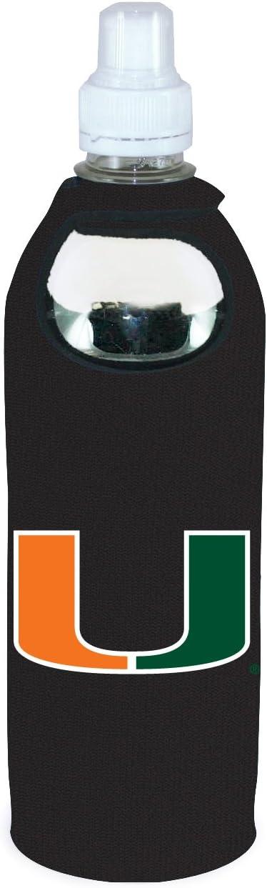 Miami Hurricanes 1/2 Liter Water Bottle Neoprene Beverage Insulator Holder Cooler with Clip University of