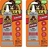 Gorilla 8040001-2 Clear Grip Contact Adhesive, 3 oz, Clear (Pack of 2)