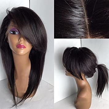Fantasy Beauty Glueless Short Wig With Side Bangs Full Lace Human Hair Wigs  Bob Style For 831bdaaa9c