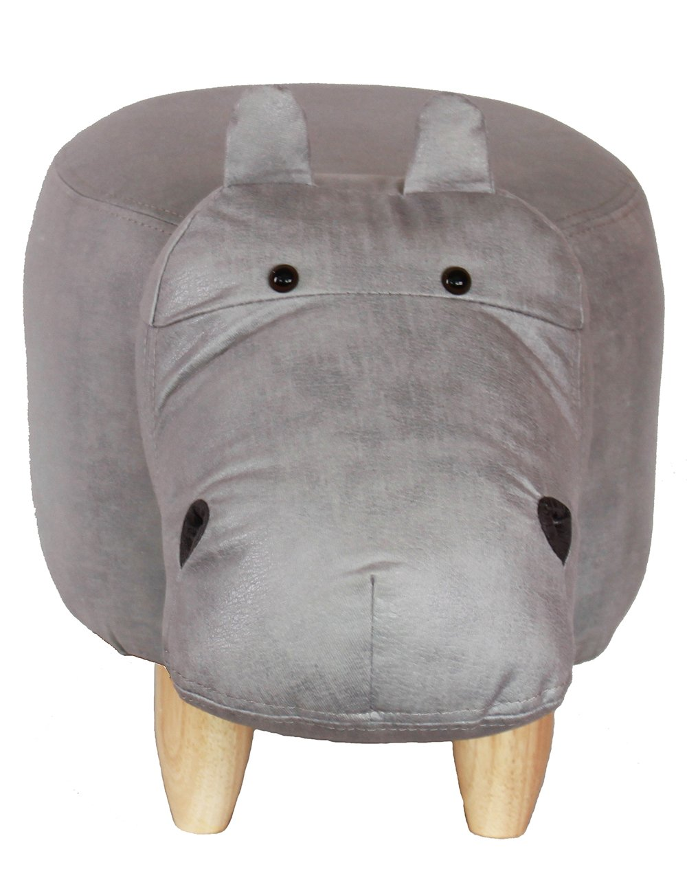 HAOSOON Animal ottoman Series Ottoman Footrest Stool with Vivid Adorable Animal-Like Features(Hippo) (grey) by HAOSOON (Image #4)