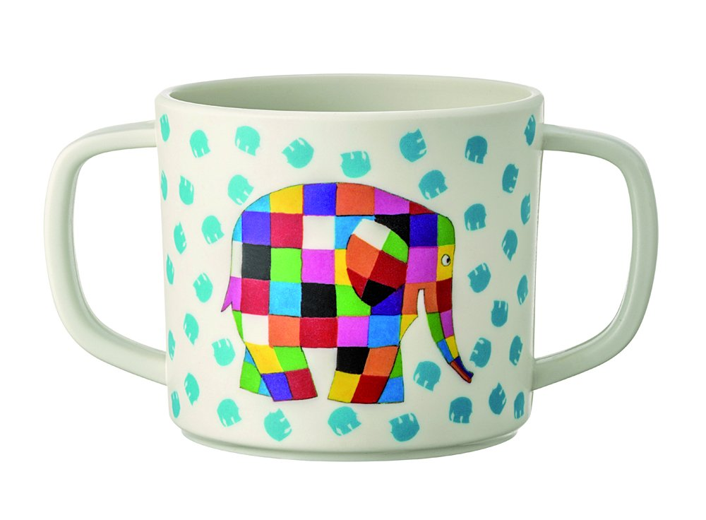 Elmer - Taza con 2 asas, multicolor: Amazon.es: Bebé