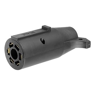 CURT 57660 7-Way RV Blade Vehicle-Side to 6-Way Round Trailer Wiring Adapter, Center Pin Brake Lights: Automotive