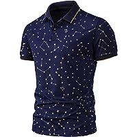 riou Polos Manga Corta Hombre Camisas Deporte Ropa Slim Fit Camiseta Golf Polo Shirt Verano Impresión por Puntos…