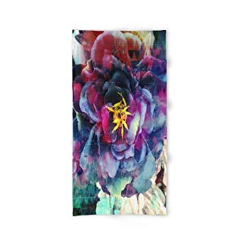 xcvgcxcvasda - Toalla de baño (31,5 x 51,2 cm), diseño de Flores, Color Morado: Amazon.es: Hogar