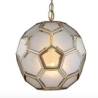 Noilyn Fussball Haning Lampe Klassische Vollkupfer Glas