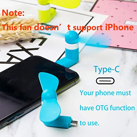 Cellet Portable Mini Fan Type-C Compatible with Samsung Galaxy Tab S6