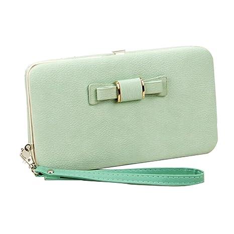 Mujer Carteras Largas AlfarTec Lunch Box Estilo Moda Bolso De Gran Capacidad De Embrague Señora Wallet